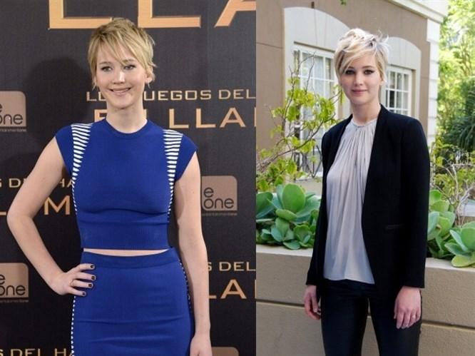 Jennifer Lawrence`ın Kısa Saç Stilleri