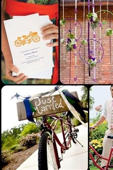 Düğün gününüze 5 bisikletli fikir!