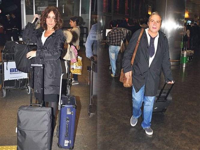 Havaalanından ayrı ayrı çıktılar