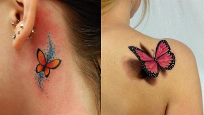 En Güzel Kelebek Dövmesi Modelleri