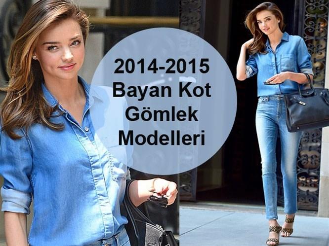 2014-2015 Bayan Kot Gömlek Modelleri