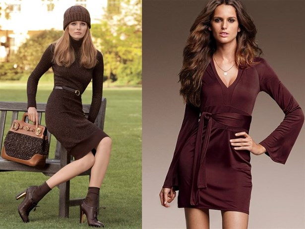 kahverengi elbise 52a7065e b4fb 419c 81dc 07da35dff5d9 1 - Sade ��kl�k: Kahverengi Elbiseler!
