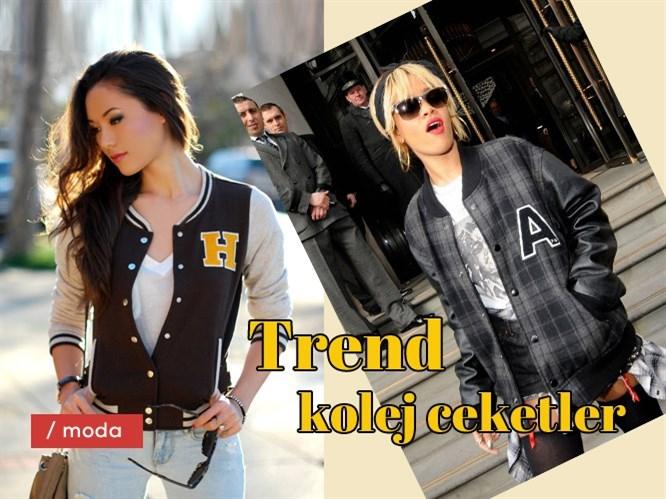 Trend kolej ceketler