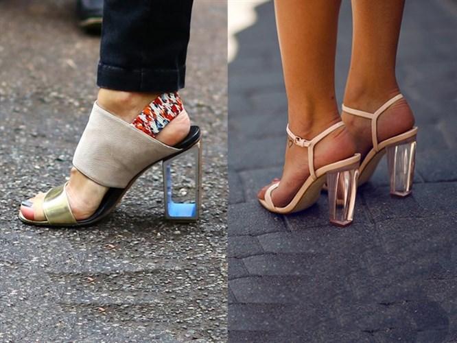 Yeni Trend: Şeffaf Topuklu Ayakkabı