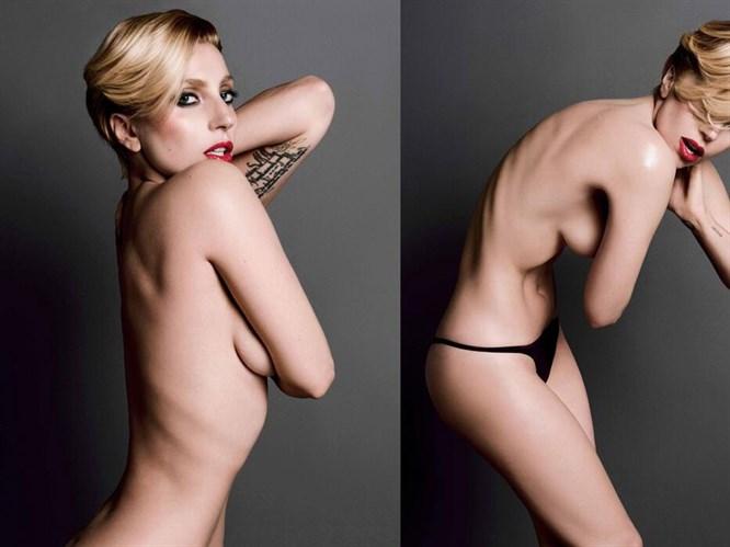 Lady Gaga'dan üstsüz pozlar
