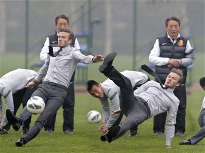 Beckham karizmayı fena çizdirdi!
