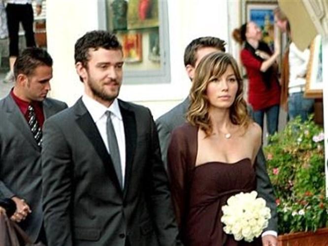 Justin Timberlake ve Jessica Biel evlendi!