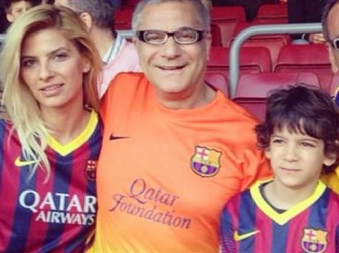 Mali eski eşi ve oğluyla Barcelona'da