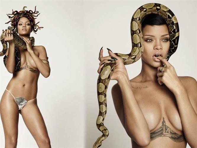 Rihanna yine yaptı yapacağını
