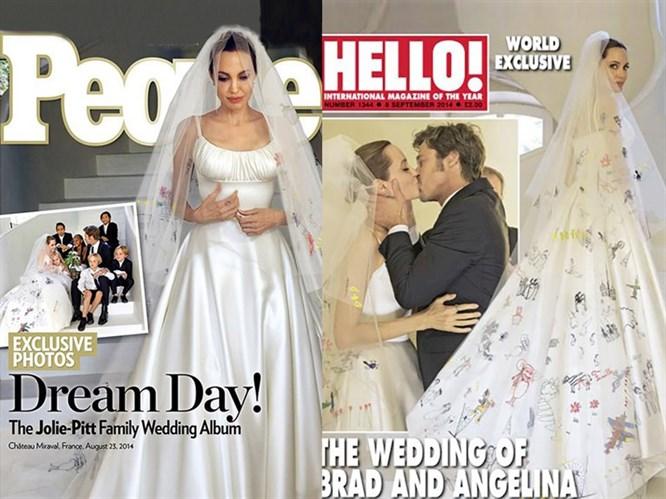 Angelina Jolie'nin Merak Edilen Gelinliği