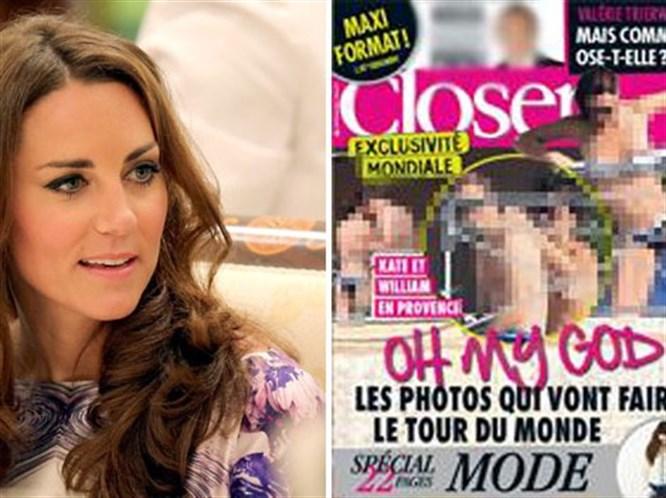 Kate Middleton üstsüz yakalandı