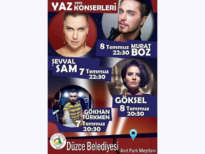 DÜZCE'DE ŞEVVAL SAM KONSERİ İPTAL OLDU