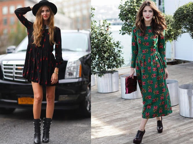 Sonbahar Kombinleri: Uzun Kollu Elbise