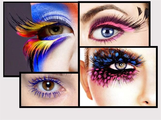 Yeni Trend Rengarenk Kirpikler!