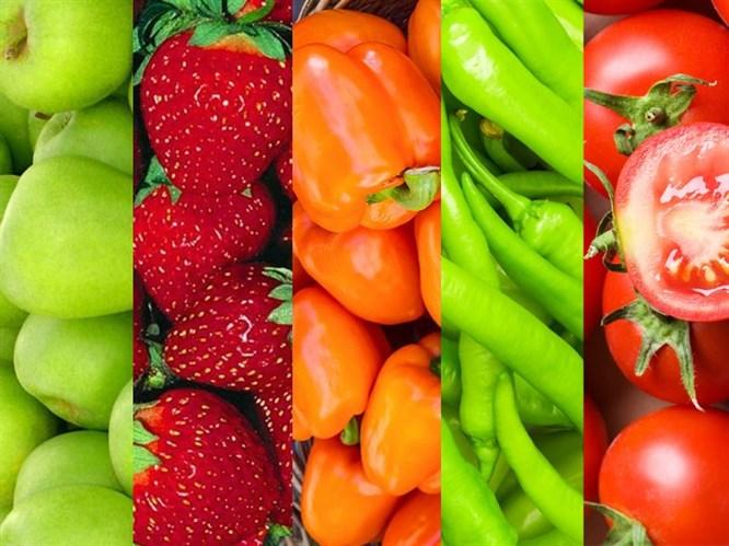 Sebze Ve Meyvelerin Renk Kodları