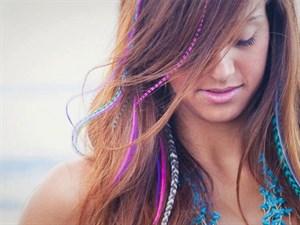 2015 Modası Renkli Saç Tüyü