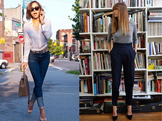 Yüksek Bel Pantolon Kombinleri
