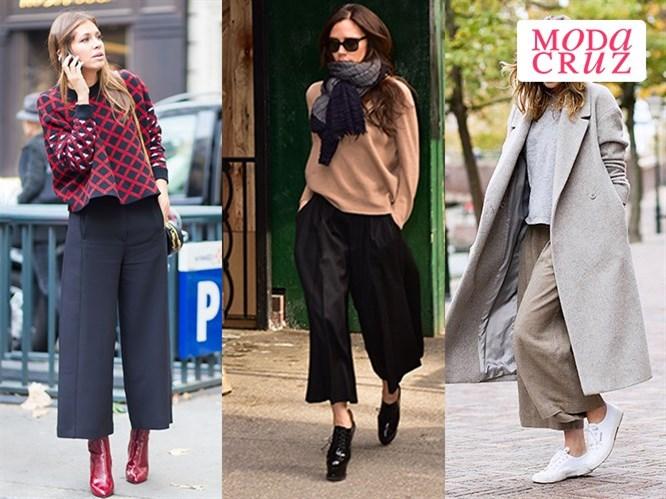 """Kışın """"Culotte"""" Pantolon Nasıl Kombinlenir?"""