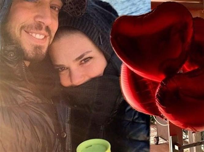 Murat Boz'dan Aslı Enver'e Kalpli Balonlar!