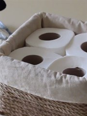 El Yapımı Tuvalet Kağıdı Sepeti