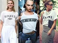 2017 İlkbahar Modası: Sloganlı Tişörtler