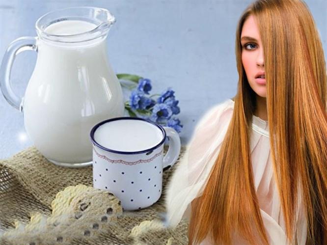 3 Adımda Saçlarınızı Sütle Düzleştirin!