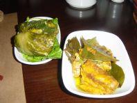 Pazı Yaprağına Sarılı Levrek Balığı
