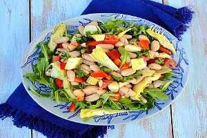 Enginarlı Kuru Fasulye Salatası